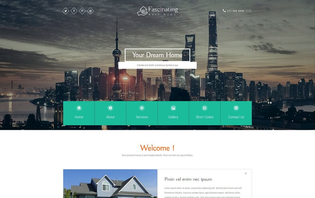 fascinating free directory website template