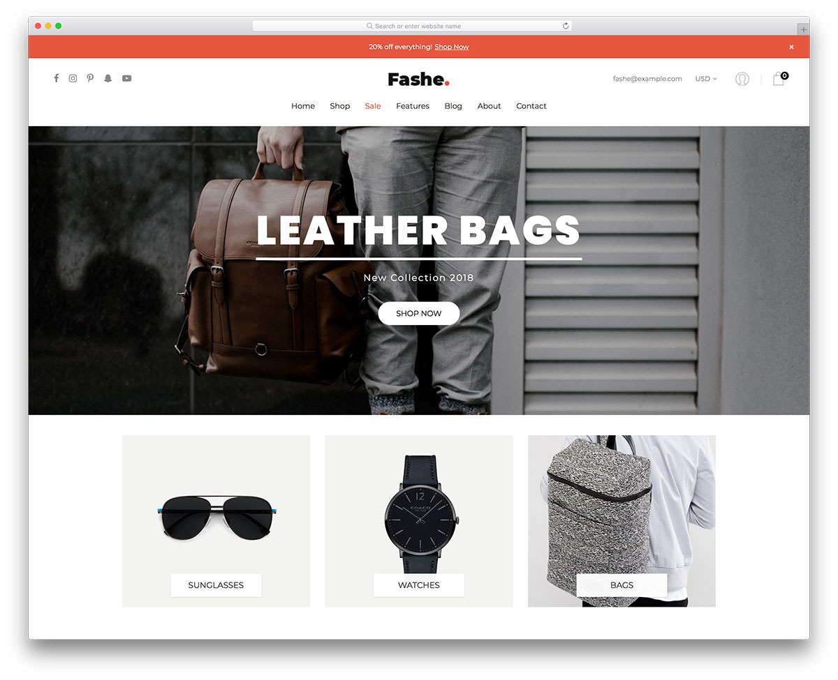 28 Best Free Fashion Website Templates 2018 - Colorlib