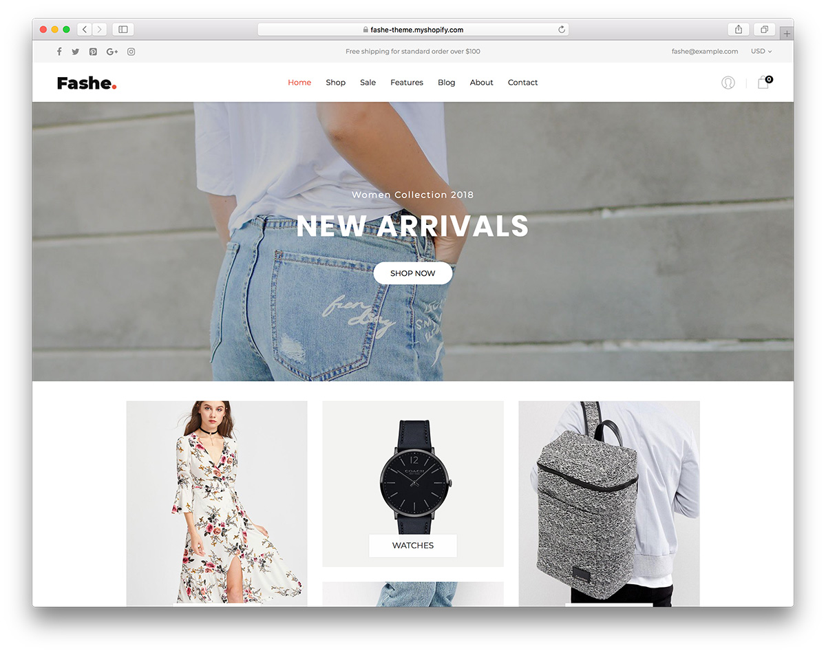 36 free best shopify themes for your online store 2018 for Free shopify templates