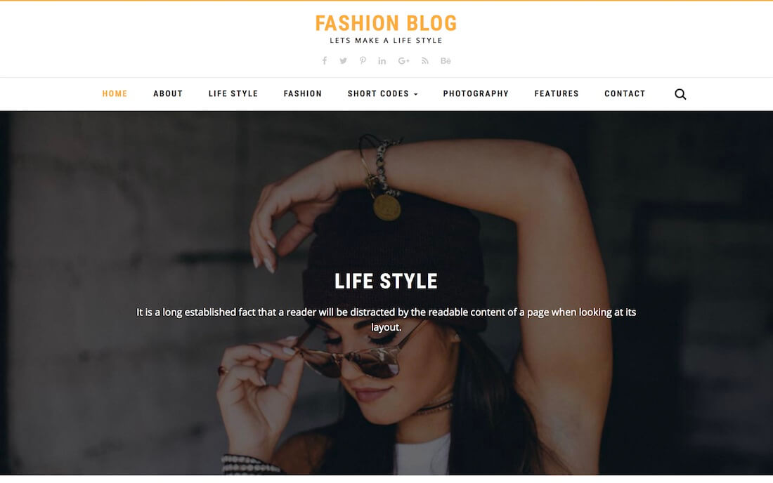 fashion blog free fashion website template