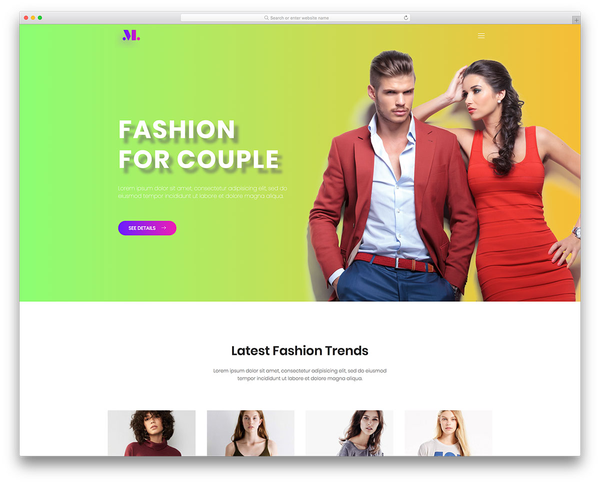 It Could Not Be More Fashion Than But You Might Only Agree With Me After See This Free Website Template S Live Preview