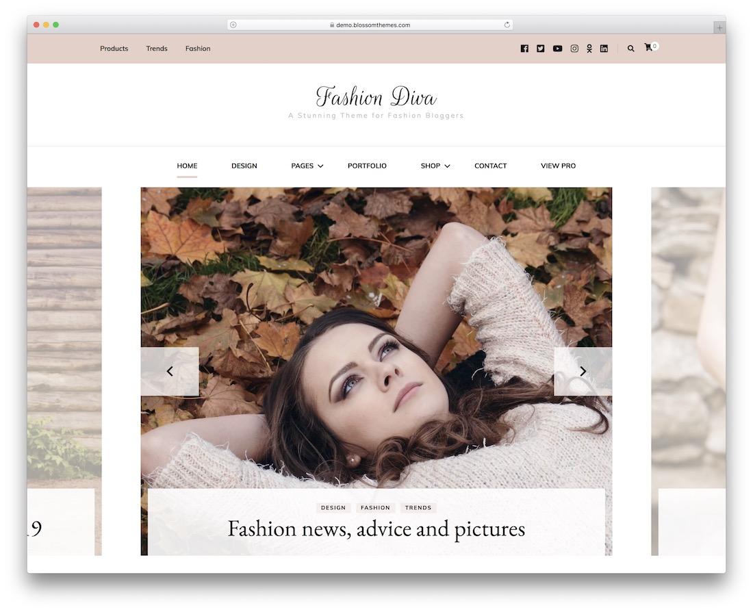 fashion diva free wordpress theme