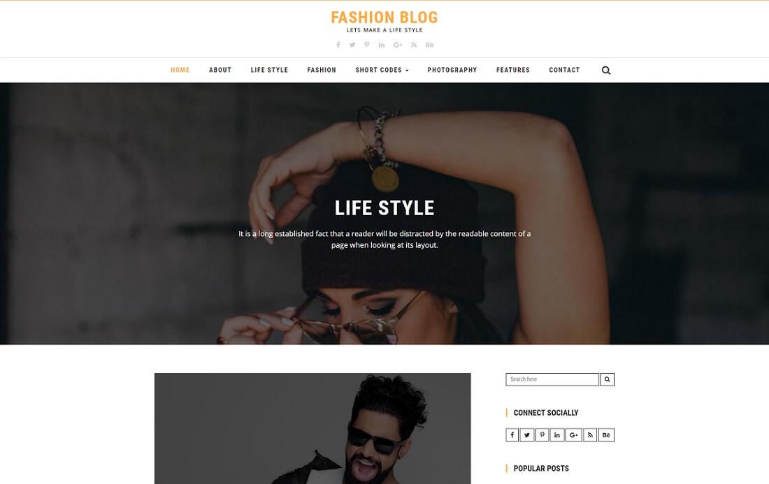 fashion free blog template