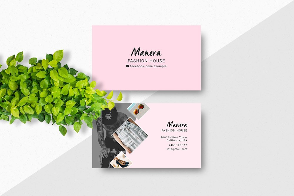 fashion house business card mockup