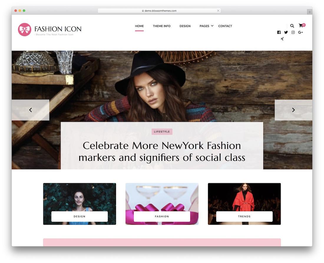 fashion icon free wordpress theme