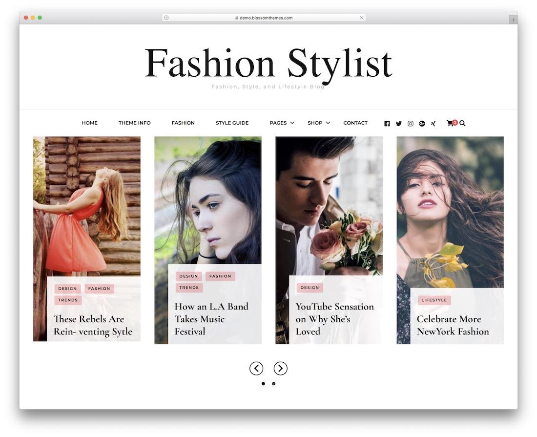 fashion stylist free wordpress theme