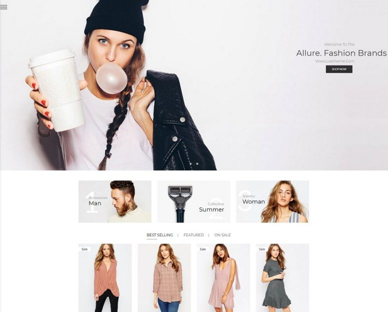 21 Top Apparel & Fashion Website Templates 2018