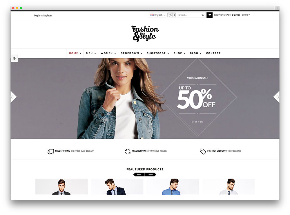 fashion trendy woocommerce wordpress shop theme