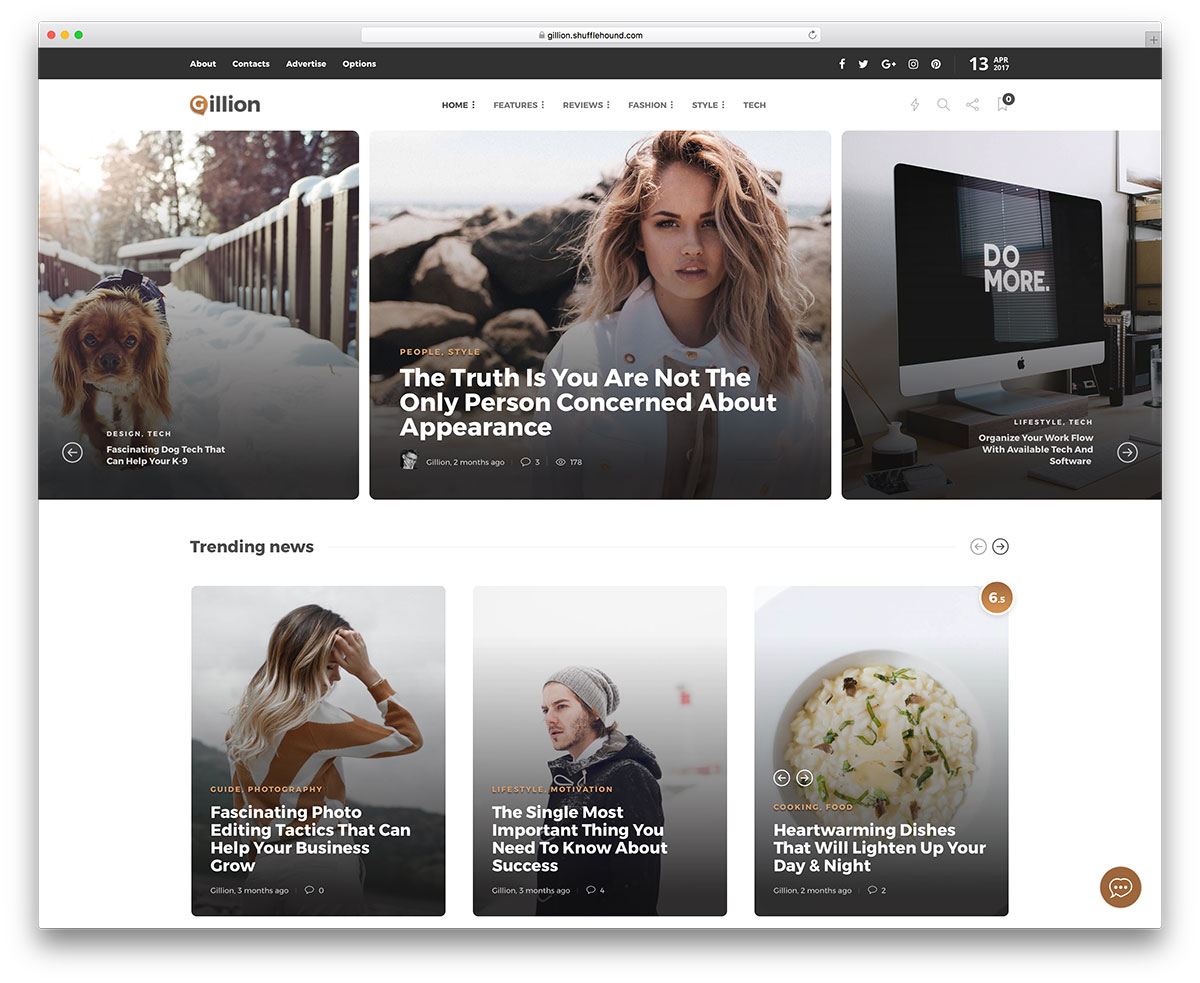 20 Best Fashion Blog Magazine Ecommerce And Photography WordPress Themes 2017