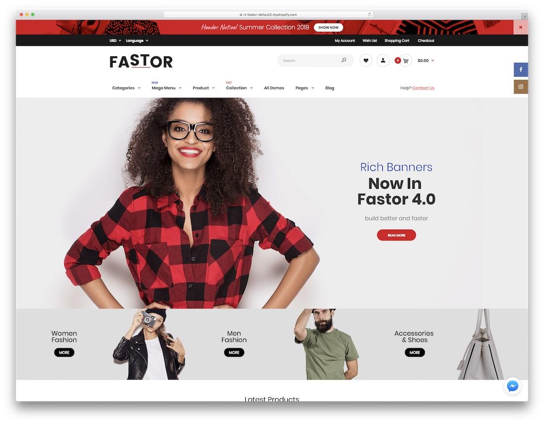 fastor fashion shopify theme