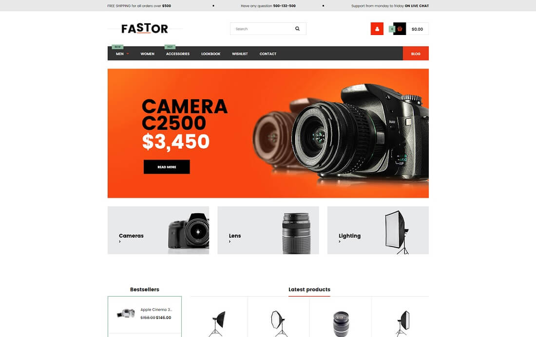 fastor shopify technology theme