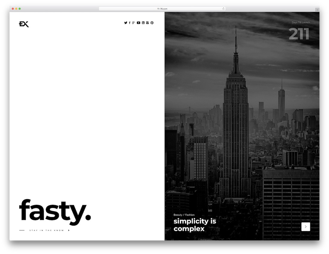 fasty coming soon website template