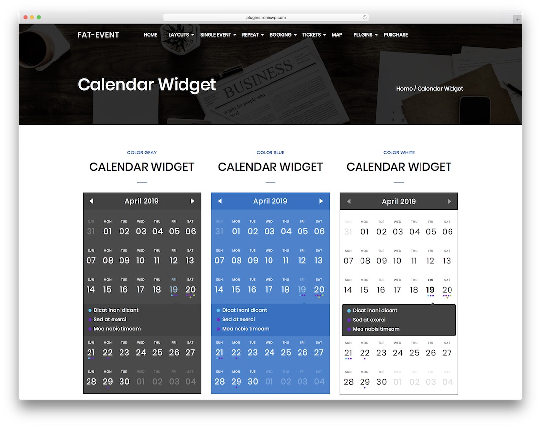 fat event wordpress calendar plugin
