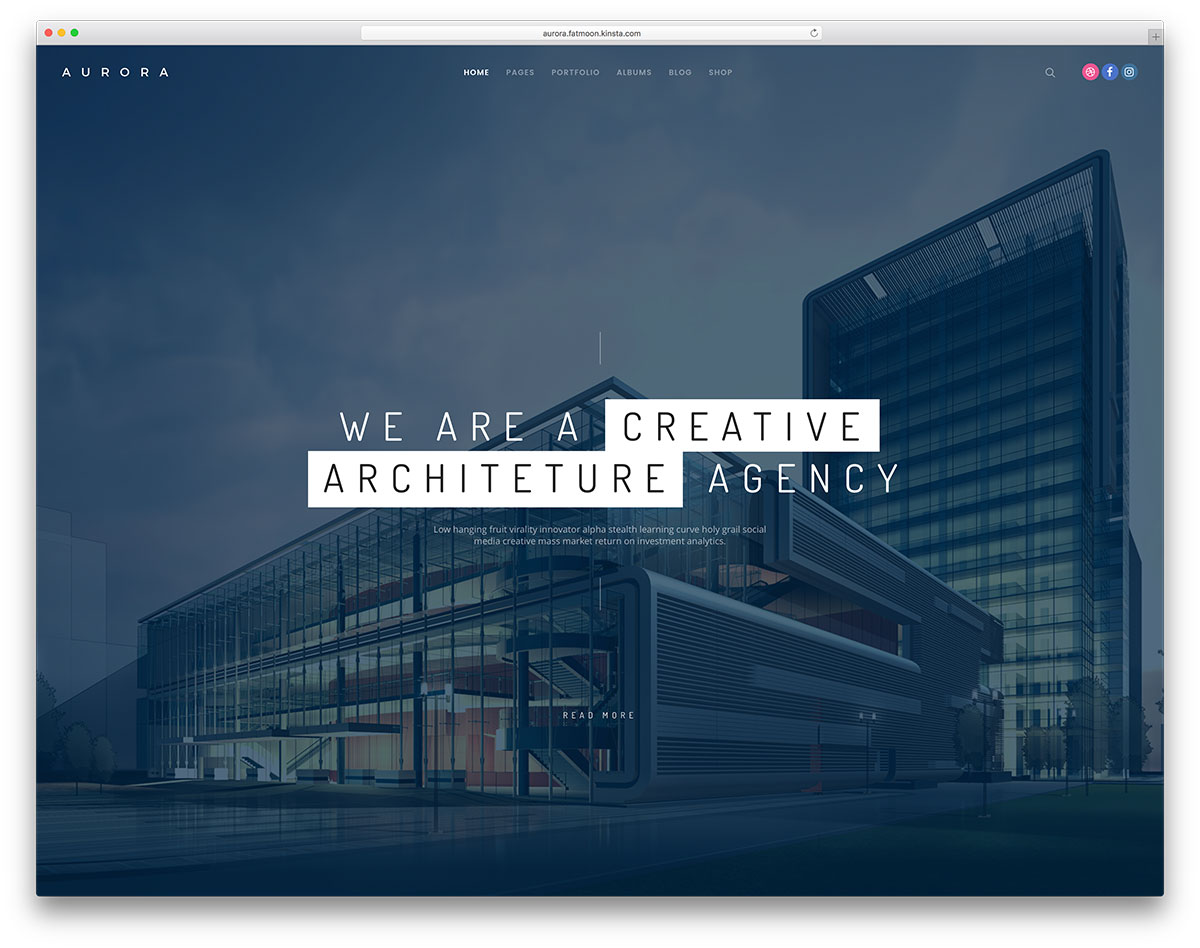 fatmoon-architect-wordpress-website-template
