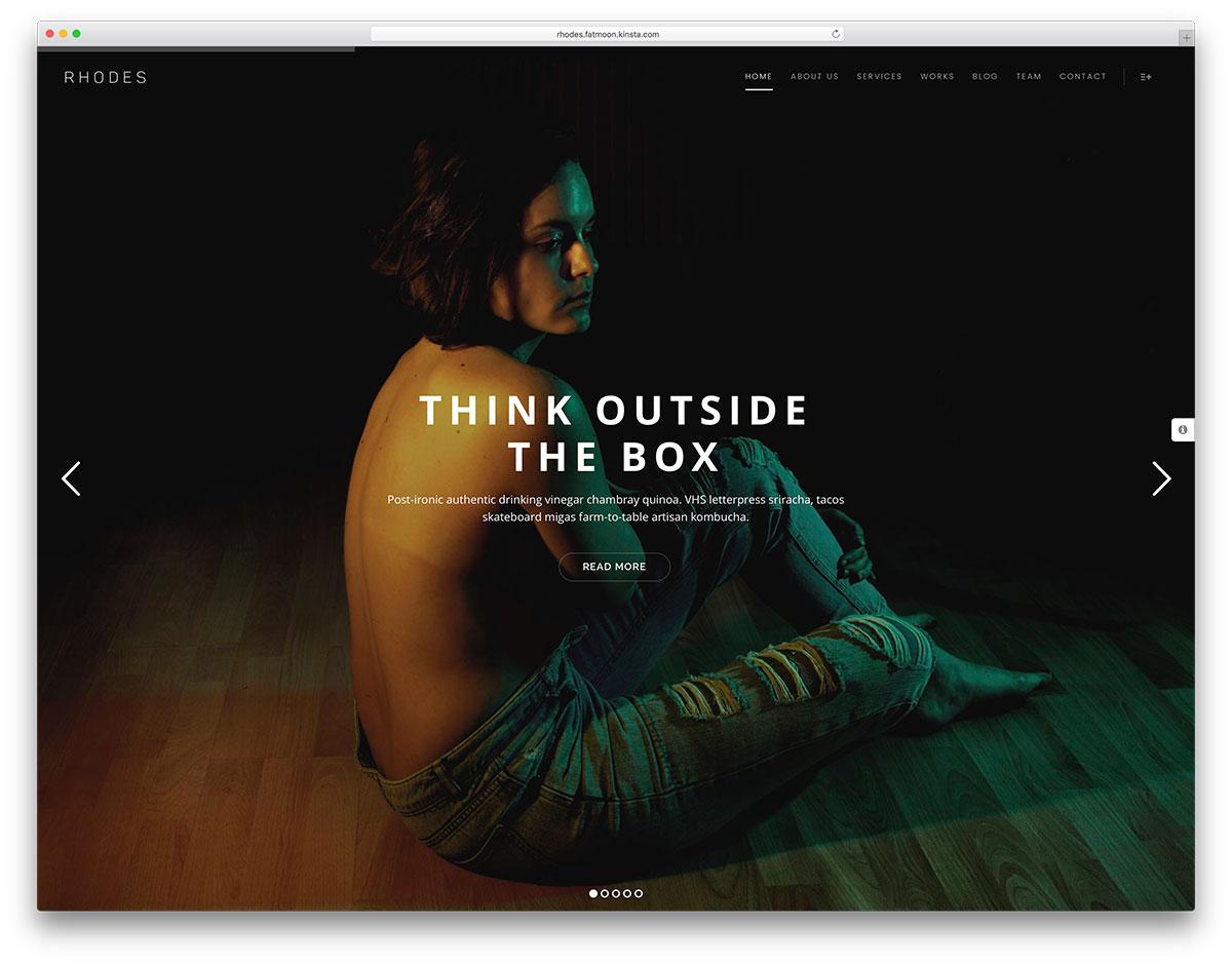 fatmoon-creative-fullscreen-wp-template