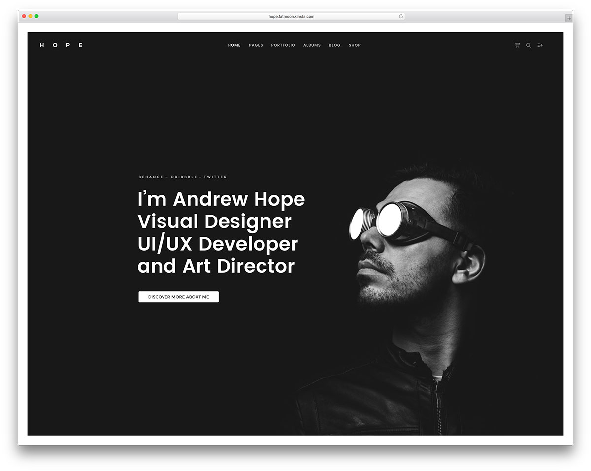 fatmoon resume wordpress website template