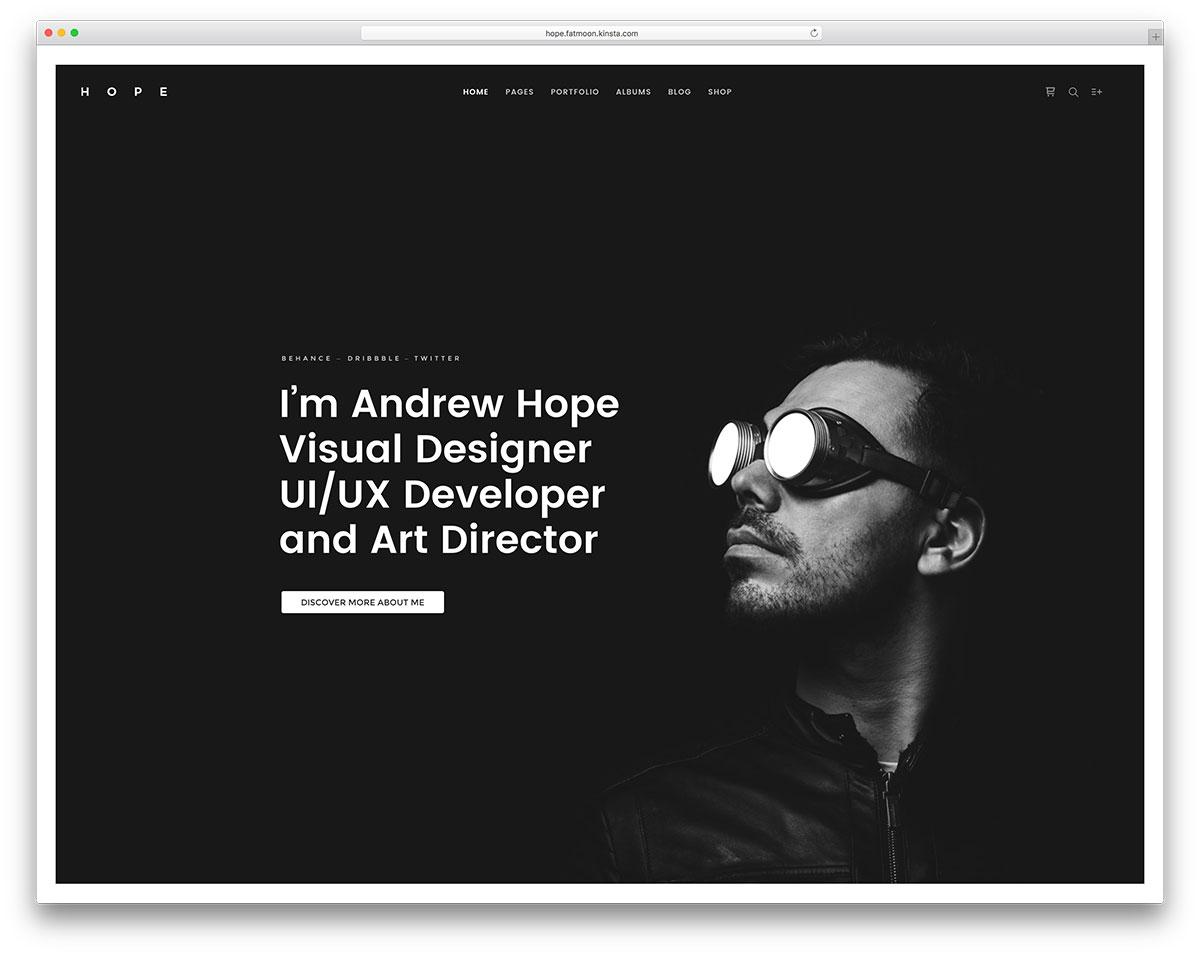 fatmoon-resume-wordpress-website-template