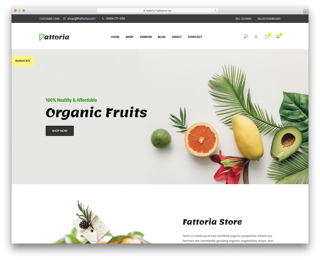 fattoria wordpress theme