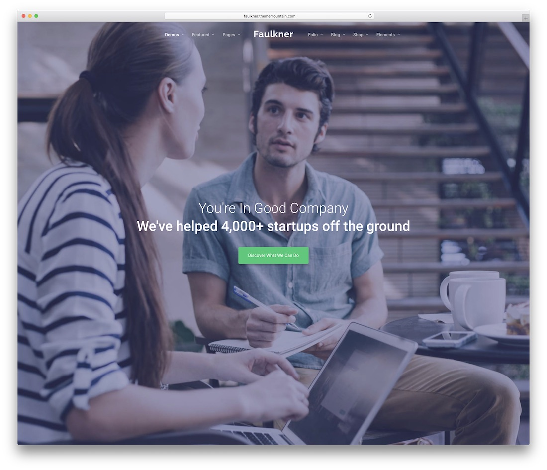 faulkner business website template