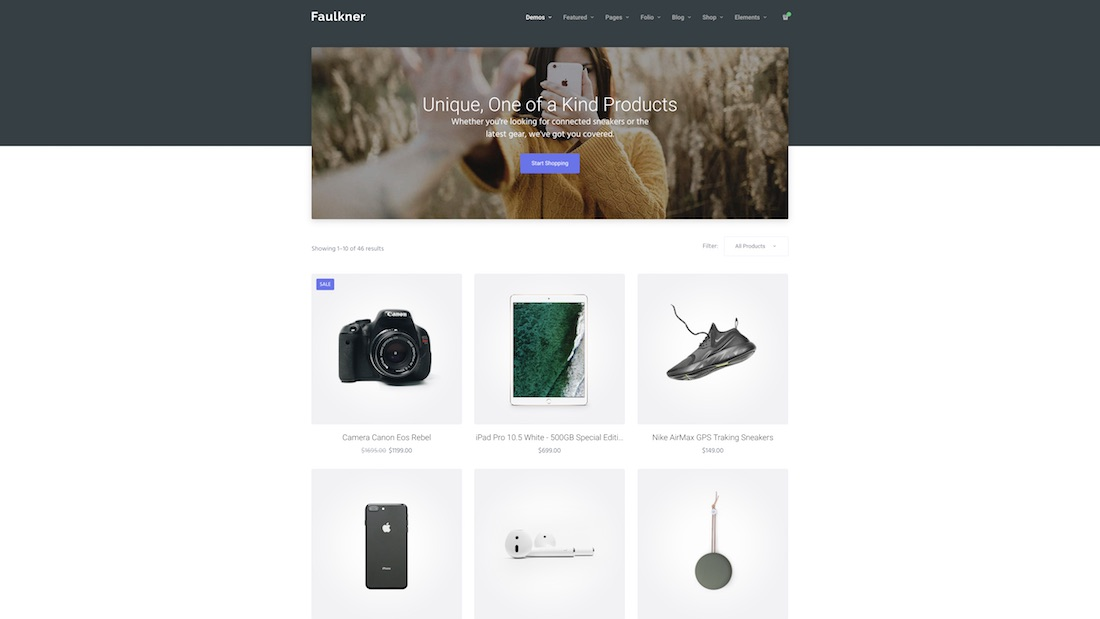 faulkner ecommerce website template