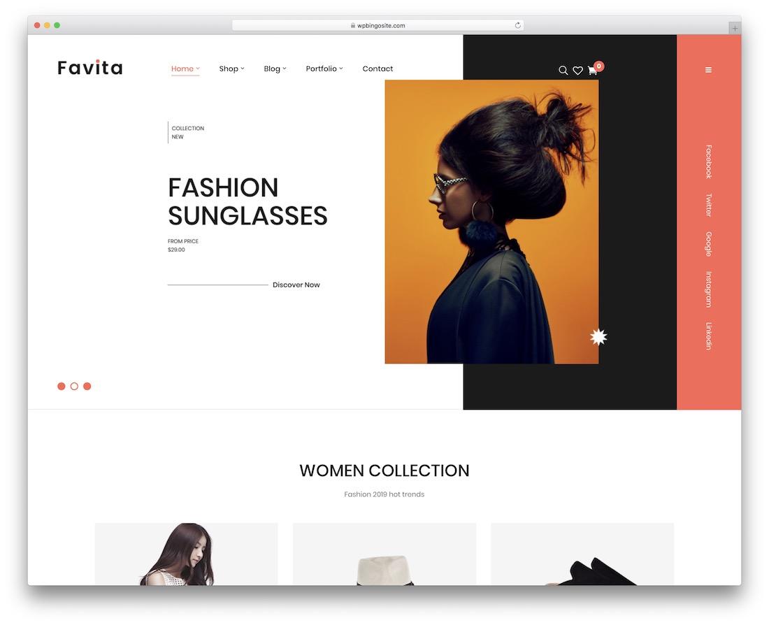 favita fashion website template