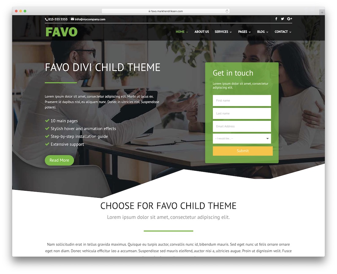 favo divi child theme