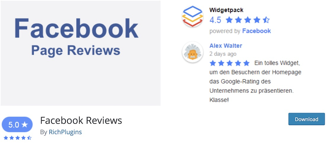 fb reviews widget wordpress plugin