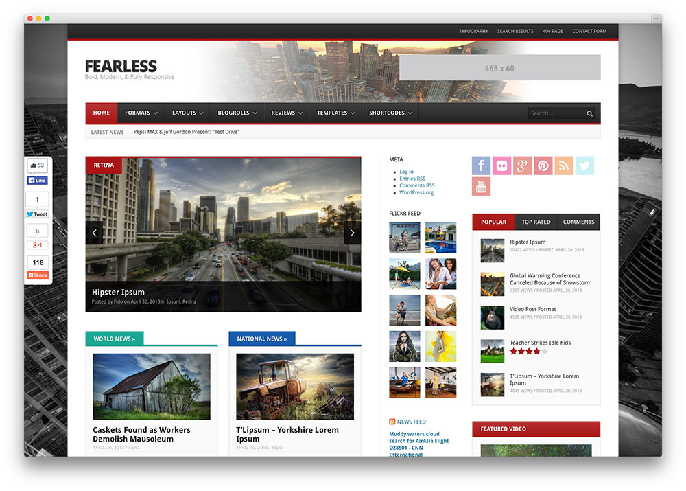 fearless gaming magazine theme