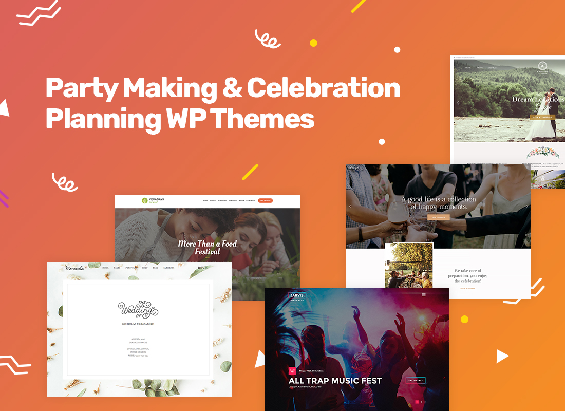 Top Party Making & Celebration Planning WordPress Themes 2018