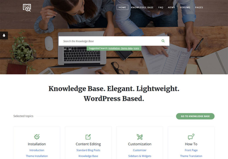 InfoCenter WordPress Wiki Theme