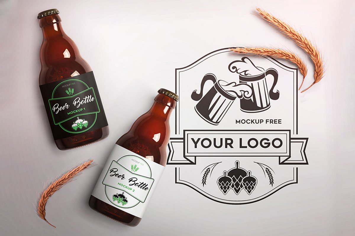 31 Awesome Beer Bottle Mockups For Brewing Industry