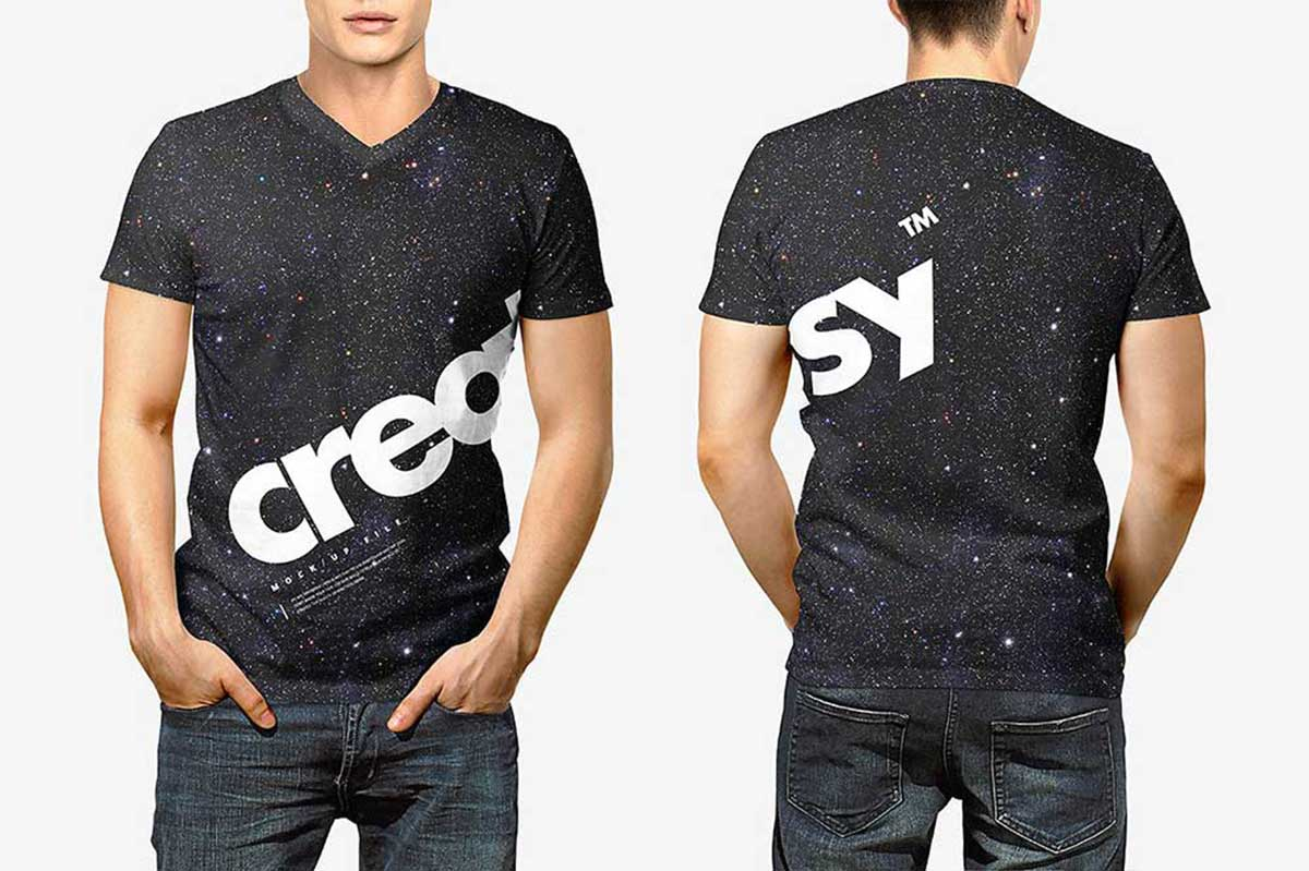 30 Awesome Black T-shirt Mockups For Your Apparel Business