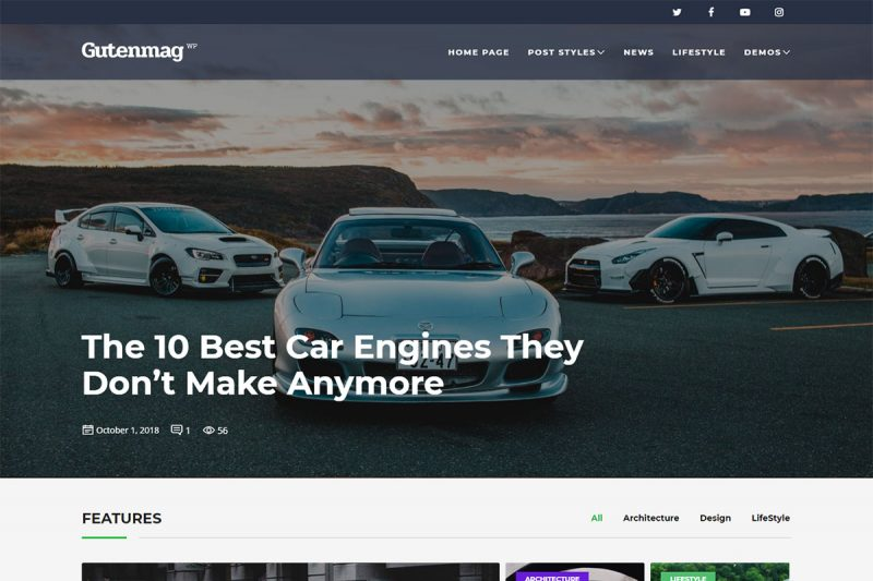 17 Best Cars Magazine WordPress Themes To Start A Magazine Online 2020
