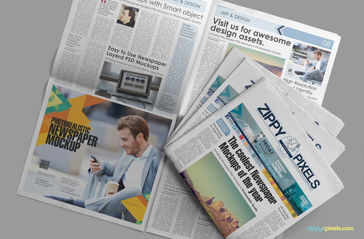 19 Free Newspaper Templates For Publishers, Advertisers, Marketers And More 2019