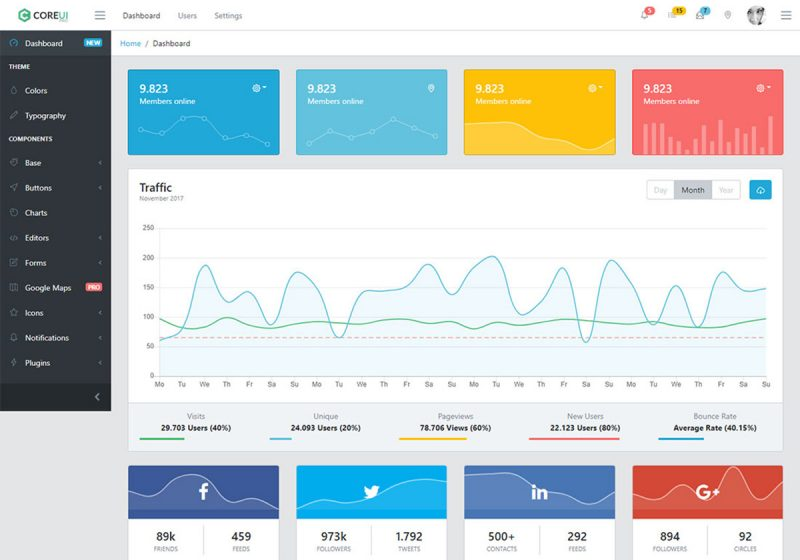 21 Free VueJS Admin Templates For Powerful Backend Web Applications 2019