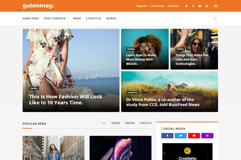 22 Best Glamour Magazine Themes For Fashion Magazine Websites 2020