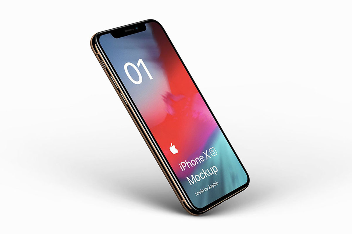 39 Photorealistic IPhone XS Mockup Templates [PSD & Sketch]