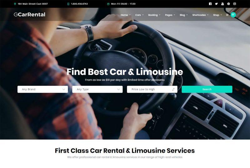 20 Best Limousine Services WordPress Themes 2020