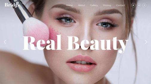 Featured Makeup Artist Wordpress Theme