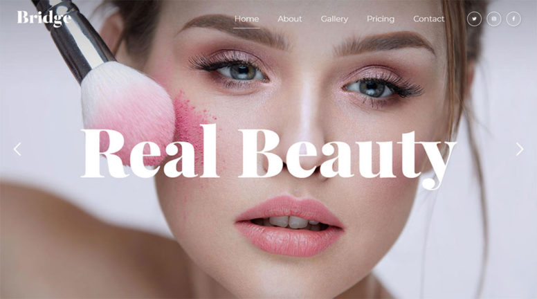 Featured Makeup Artist Wordpress Theme