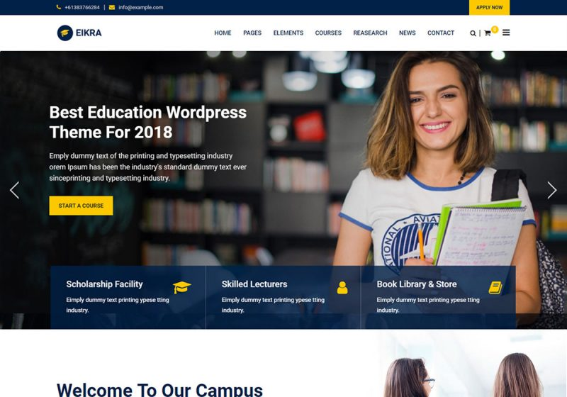 19 Best Online Course WordPress Themes For Online Education, ELearning 2020