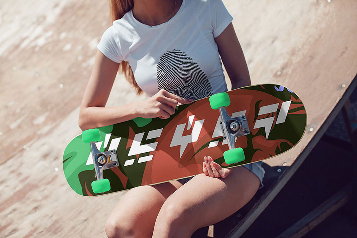 21 Outstanding Skateboard Mockups For Graphic Design