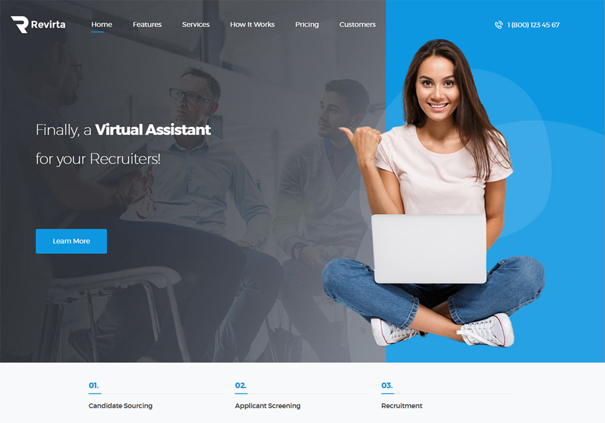 Custom My Design Assistant 8 best virtual assistant website templates 2019 - colorlib
