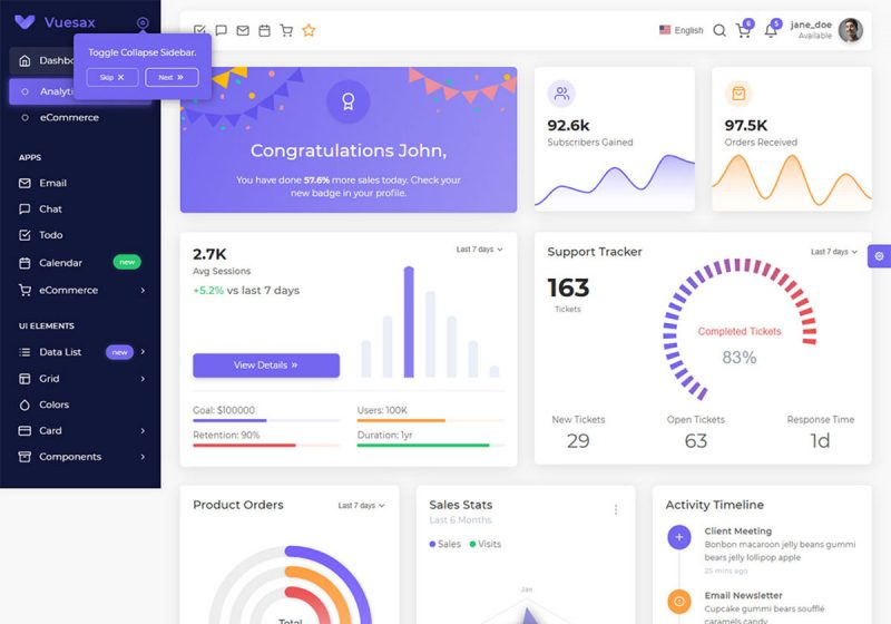 17 Best VueJS Admin Templates To Power Web Applications 2019