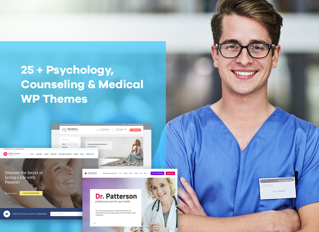 25+ Psychology, Counseling & Medical WordPress Themes Worth Your Attention