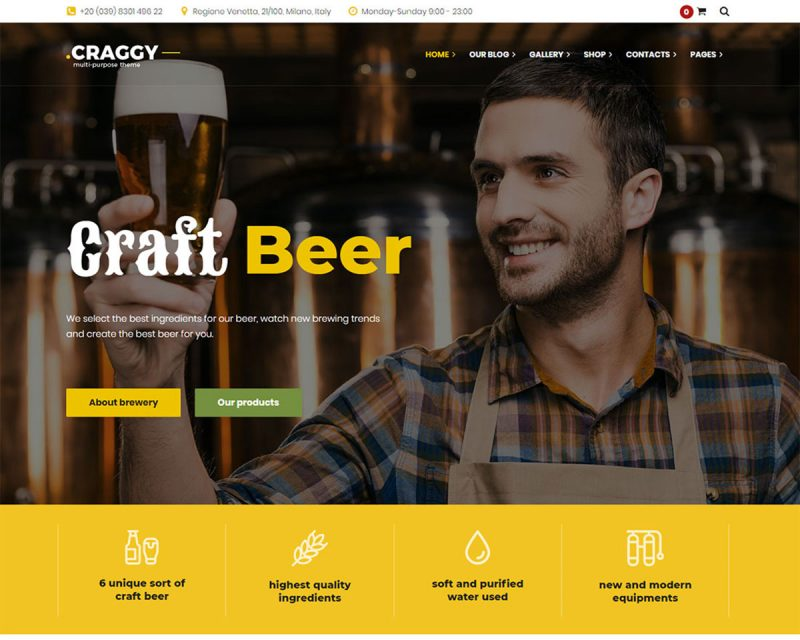 18 Best Brewery Website Templates For Craft Beer & Brewing Companies 2019