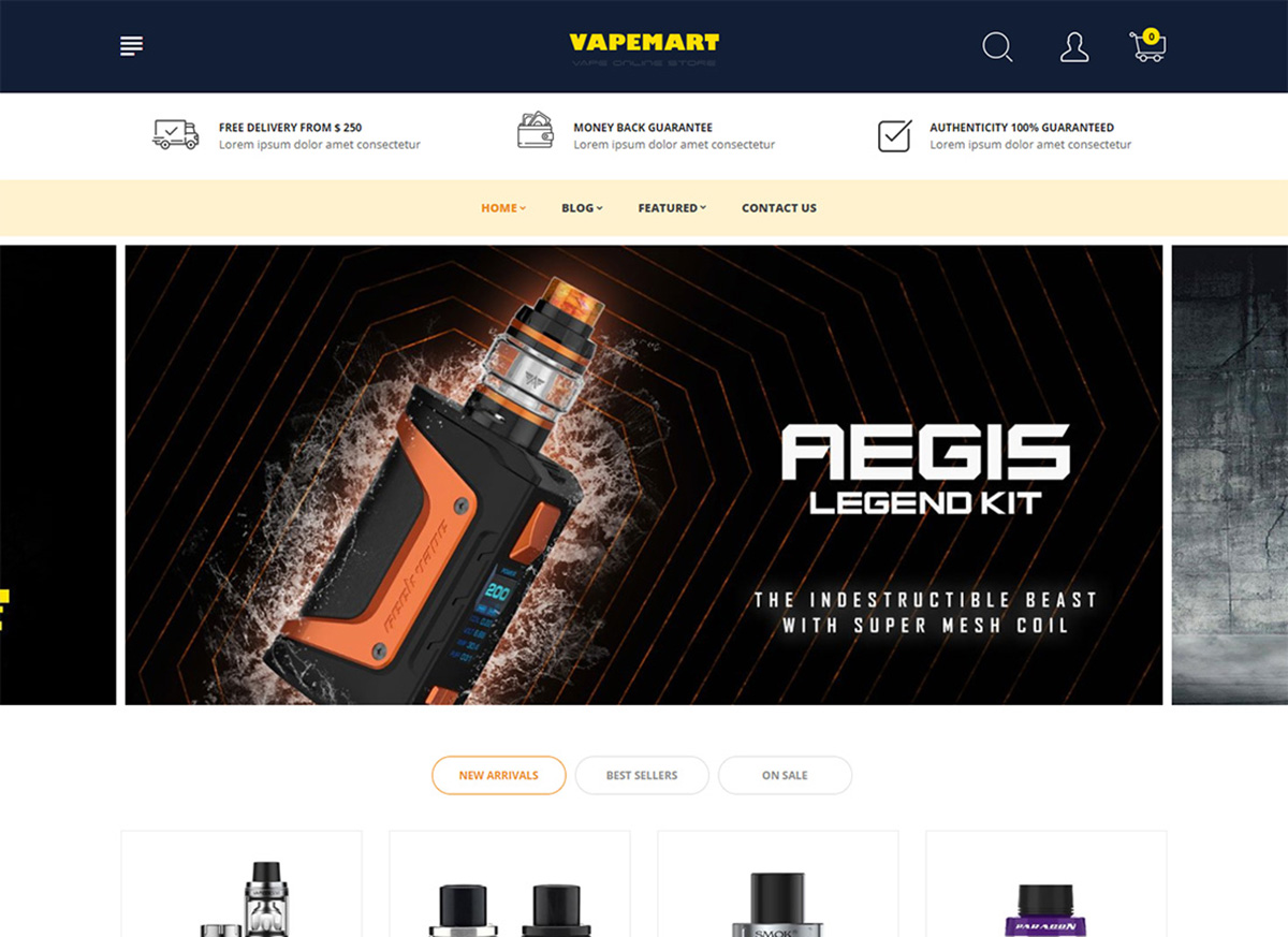Best eCig & Vaping eCommerce Themes & Templates 2019 - Colorlib