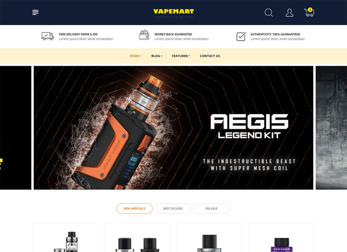 Best ECig & Vaping ECommerce Themes & Templates 2019