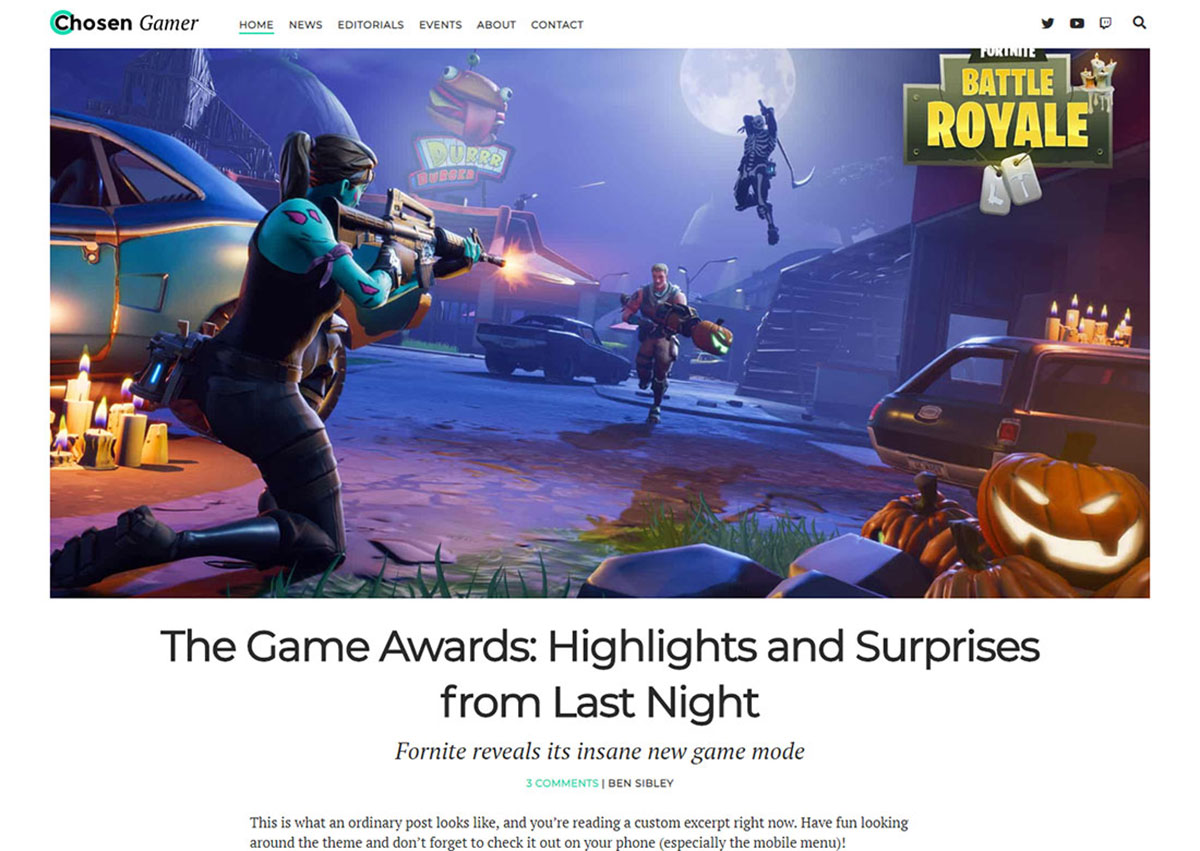 Free WordPress Gaming Themes