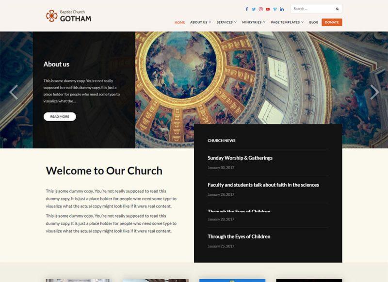 12 Best Free Church WordPress Themes 2020